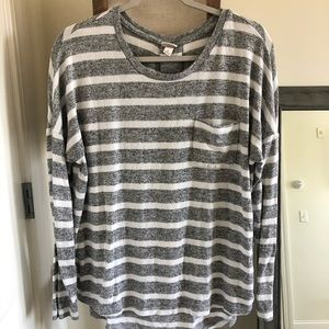 Long sleeve striped sweater blouse